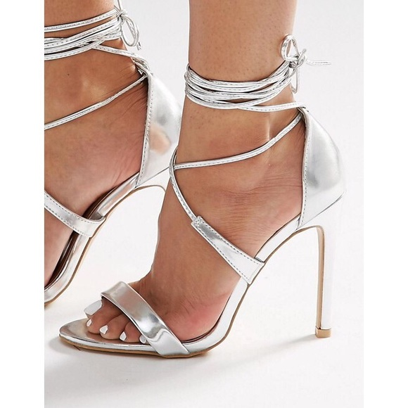 36eab34406 ASOS Shoes | True Decadence Ankle Tied Heeled Sandals | Poshmark